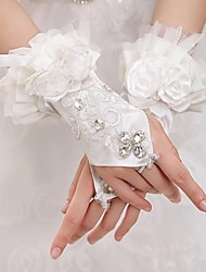 Wrist Length Fingerless Glove Tulle Bridal Gloves / Party/ Evening Gloves