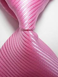 New Striped Pink JACQUARD WOVEN Men's Tie Necktie TIE2043