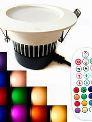 1 pcs SchöneColors 9W 650 LM Dimmable/Music-Controlled/Remote-Controlled/Decorative RGBW LED Downlights AC 100-240 V