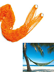 200*80cm Garden Outdoor Hammock Sleeping Bed Portable Travel Camping Nylon Hang Mesh Net Random Color