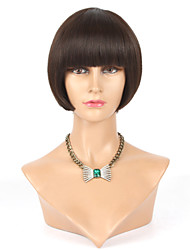 Layered Human Hair Short Bob Wigs For Black Women Glueless Lace Front Human Hair Bob Wig With Bangs