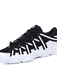 Men's Sneaker Shoes Tulle Black / Red / White