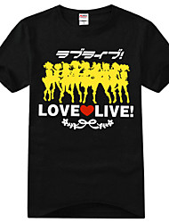 Inspired by Love Live Kotori Minami Anime Cosplay Costumes Cosplay T-shirt Print Black Short Sleeve T-shirt