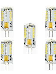 Luci LED Bi-pin 57 SMD 3014 NO T G9 / G4 3W Impermeabile 260 lm Bianco caldo / Luce fredda 5 pezzi AC 12 V
