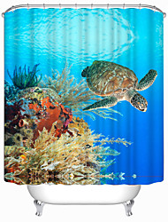 "Modern Turtle Polyester Shower Curtains W71""×L71"""