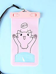 pvc caixas secas impermeável material adequado para celular iphone para mergulho / natação / pesca 17 * 11 centímetros
