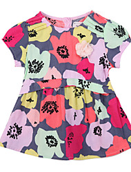 Girl's Dress,Cotton Summer / Spring Multi-color