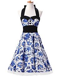 Andere Cosplay Kostüme Blau Film Cosplay Kostüme Kleid / Minimantel Baumwolle Frau