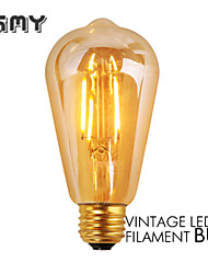 1 шт. GMY E26 3W 4 COB ≥300 lm Тёплый белый ST19 edison Винтаж LED лампы накаливания AC 110-130 V