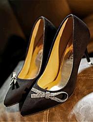 Women's Shoes Leatherette Stiletto Heel Heels Heels Wedding / Party & Evening Black / Red / Royal Blue