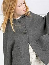 Impermeabile Girl Inverno Poliestere Grigio