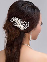 Bride's Pearl Rhinestone Hair Comb Wedding Hair Jewelry Accessories 1 PC