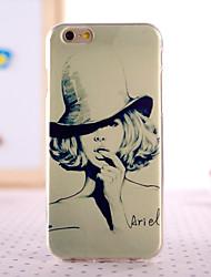 fashion girl conception dos cas de couverture pour iphone 6 iphone6s