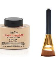 Ben Nye Banana Luxuary Powder + Flat Contour Makeup Brush