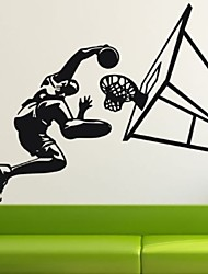 Removable Wall Sticker Basketball Player Slam Dunk Wall Stickers Living Room Bedroom Children'S Room Home Decor