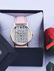 Low Price Good Quality Cheap Hot Retro BINGO Game Vintage Fashion Quartz leather Watch Cool Watches Unique Watches