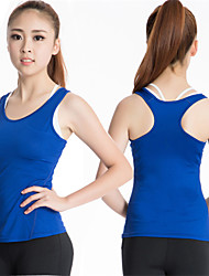 Lady's High Elastic Fitness Quick-dry Sport Shirt Vest Yoga Running Fitness
