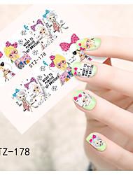 1pcs  Water Transfer Nail Art Stickers Beautiful Girl and lady Image Nail Art Design STZ176-180