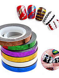 1pcs 3d wave nail sticker decoration-Autocollants 3D pour ongles-Doigt / Orteil- enAbstrait-6cm width