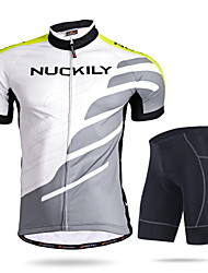 NUCKILY Mountain Biking Sunscreen Breathable Short Sleeved Riding Clothes Suit