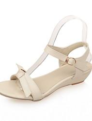 Women's Shoes Wedge Heel Wedges / Open Toe Sandals Dress Black / Yellow / Red / Beige