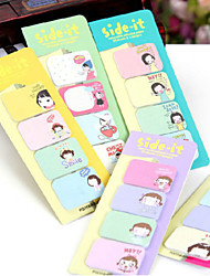 5PCS Cute Girl Post-It Notes(Style random)