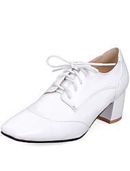 Chaussures Femme-Habillé-Noir / Rouge / Blanc-Gros Talon-Talons / Bout Carré-Talons-Cuir Verni