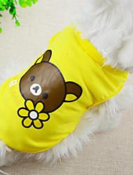 Lovely Bear Cartoon Printing Pet Vest