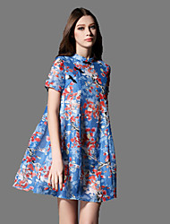 Women's Vintage Floral A Line / Loose Dress,Stand Above Knee Others
