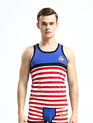 Men's Sleeveless Tank Tops,Modal Casual Striped