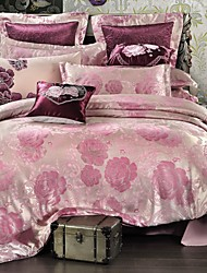 Bedtoppings Cotton Rich Jacquard Embossed 4pcs Duvet Cover Set