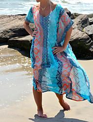 Women's Boho Sexy Loose Long Beach Cover-Ups , Chiffon