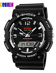 Sports Watch Men's / Ladies' / Kids' LCD / Calendar / Chronograph / Water Resistant / Dual Time Zones / Noctilucent / Stopwatch Digital