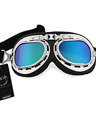 estilo vintage óculos de proteção da motocicleta aviador do motor piloto capacete vidros coloridos