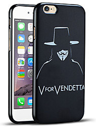 v pour vendetta couvercle de protection arrière souple coque iphone pour iphone 6s / iphone 6