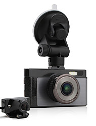Dual Lens car camera GT100 3.0''Inch 140 Degree 1080P FHD Manual Car DVR With S-sensor