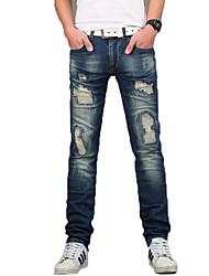 Men's Micro-elastic Demin Pant,Cotton / Spandex Casual