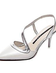 Розовый / Белый-Женская обувь-Для офиса / Для праздника-Дерматин-На каблуке-рюмочке-На каблуках-Обувь на каблуках