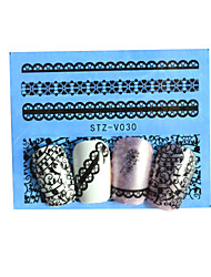 1pcs Black New Nails Art  Water Transfer Sticker  Manicure Nail Art Tips  STZV021-030
