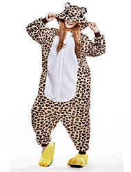 Kigurumi Pijamas New Cosplay® / Urso / Guaxinim Malha Collant/Pijama Macacão Festival/Celebração Pijamas Animal Castanho MiscelâneaLã