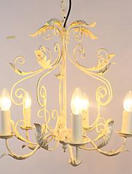 40W Lustres ,  Tradicional/Clássico Pintura Característica for Estilo Mini / Designers / Estilo Candle MetalSala de Estar / Quarto / Sala