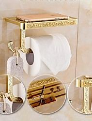 Antique Brass Finish Solid zinc alloy toilet paper holder bathroom mobile holder toilet paper holder