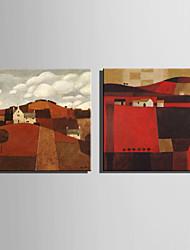 Mini pintura al óleo del tamaño de correo casa moderna casa de campo en la mano pura ladera dibujar pintura decorativa sin marco