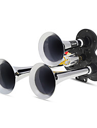Triple Trumpet Air Horns 150.2Db Very Loud Black + Silver Car Van Lorry Truck