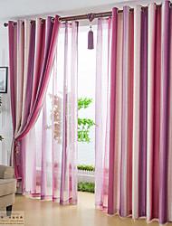 Dois Painéis Moderno Riscas Como na Imagem Sala de Estar Poliéster Blackout Cortinas cortinas