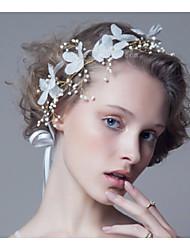 fleur blanche cristal strass bandeau front bijoux de cheveux de femmes pour la fête de mariage