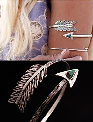 European and American foreign trade folk style feather Malachite Bracelet E1166 triangle Christmas Gifts