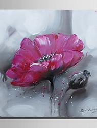 dibujar la mini pintura al óleo del tamaño de correo hogar moderno una mano pura flor roja pintura decorativa sin marco