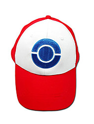 Ash Ketchum Red White Cosplay Hat