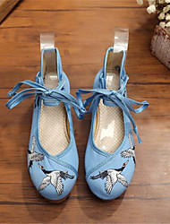 Women's Shoes Fabric Wedge Heel Wedges Heels Outdoor / Casual Blue